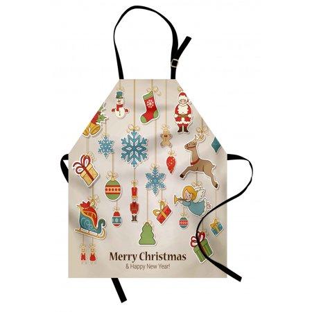 Christmas Apron Xmas Winter Holiday Themed Icons Celebratory Objects R