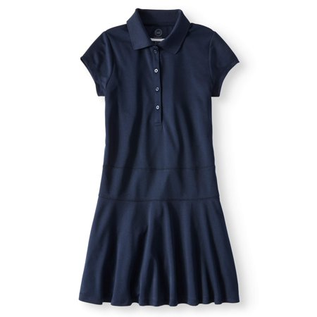 Girls School Uniform Performance Polo Dress - Kids Dress For Sale