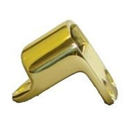 06 Antique Brass Angle - Baldwin 0310050HDAS Heavy Duty Angle Strike, Polished Antique Brass