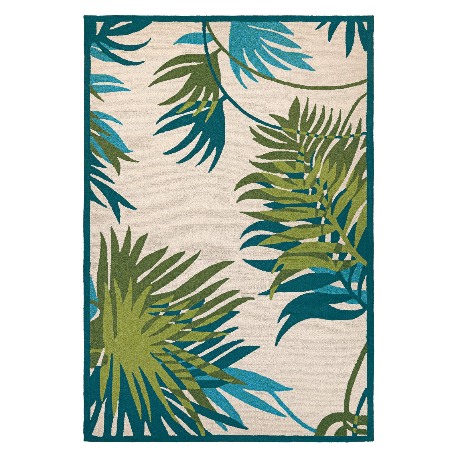 Couristan Covington Jungle Leaves Indoor/Outdoor Area Rug