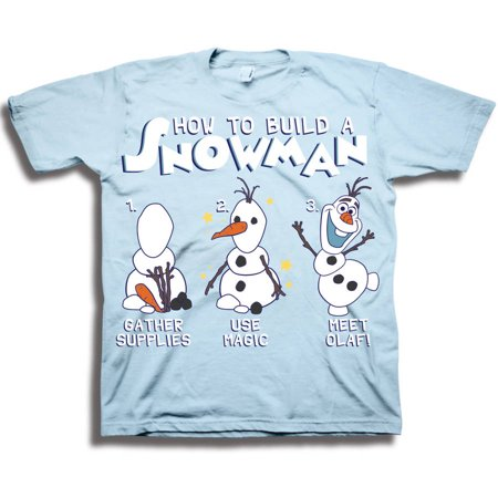 Disney Frozen Toddler Boys' Olaf How to Build a Snowman Short Sleeve Graphic T-Shirt