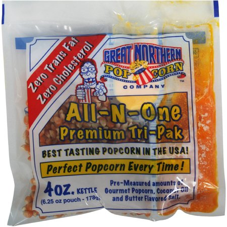 Great Northern Popcorn Case Portion Packs, 24 Count, 4-Ounce