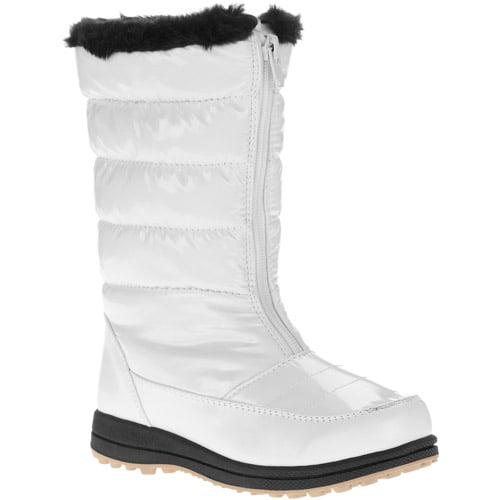 Ozark Trail Girl's Fur Trimmed Fashion Winter Snow Boot