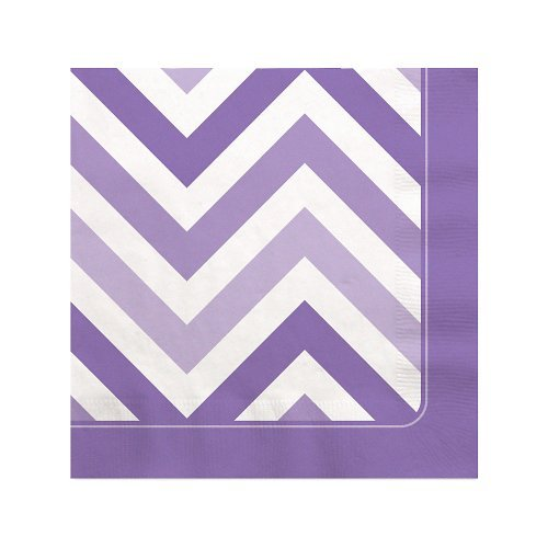 Chevron Purple Beverage Napkins (16 count) by Big Dot of Happiness, LLC