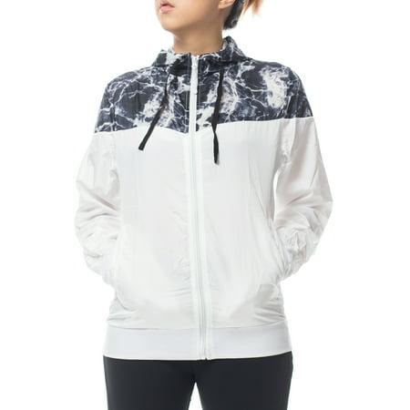 Women's Lightweight Zipper Hoodie Fashion Outerwear Windbreaker Sport Jacket