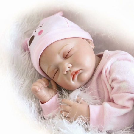 Reborn Dolls 22 Inch Full Silicone, Baby Dolls That Look Real Life, 55CM 6PCS Kids Reborn Baby Doll Vinyl Lifelike Newborn Doll Girl Best Christma Gift