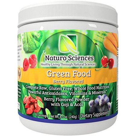 Naturo Sciences Natural Green Superfood Powder Whole Food Nutrition 30 Servings