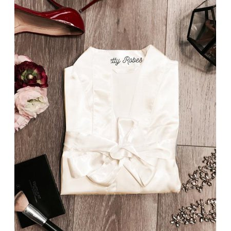 Ivory Robe, Ivory Satin Robe, Ivory Women's Robe, Cheap Ivory Robe, Ivory - Trendy Robes