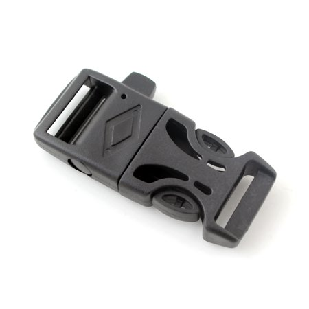Release Cam Buckle (3pcs New Side Release Whistle Buckle with Flint Fire Starter Striker )