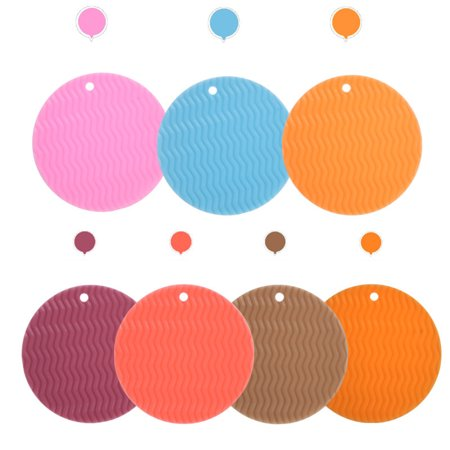 Round Wave Placemat Kitchen Dinner Table Pad Heat-resistant Place Mats Coasters Non Slip Tableware Mat Rancom Color - image 9 of 9