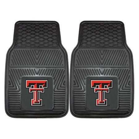 Texas Tech Red Raiders Heavy Duty 2-Piece Vinyl Car Mats Universal Fit 18