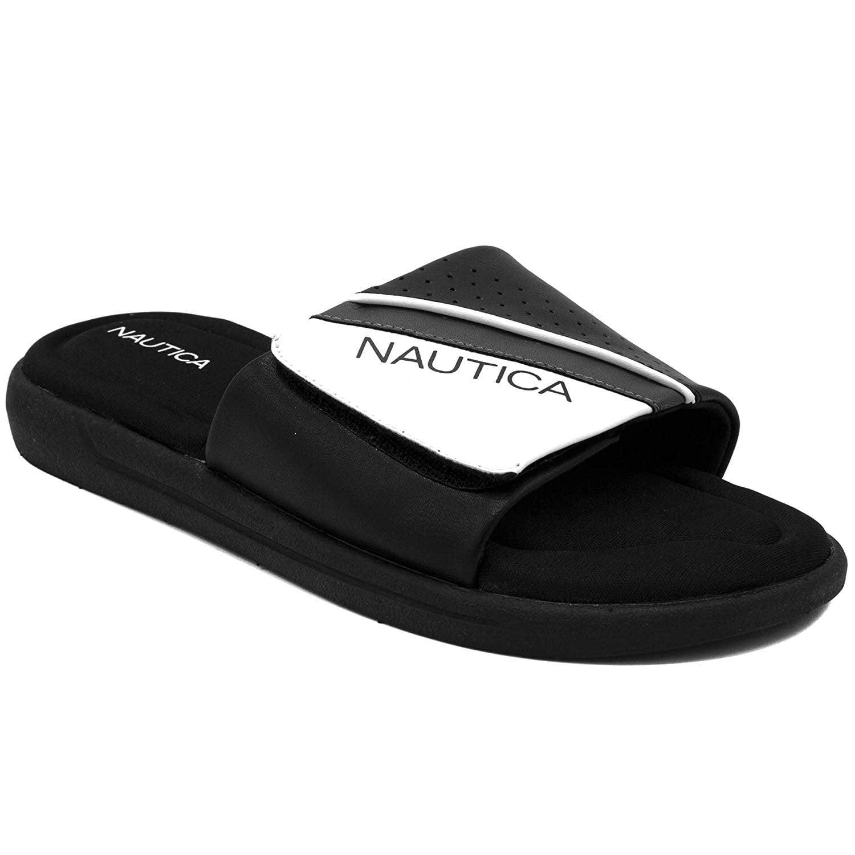 Nautica Mens Athletic Slide Comfort Sandal Sport Sandals & Slides Clothing,  Shoes & Jewelry