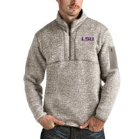 LSU Tigers Antigua Fortune Half-Zip Pullover Jacket - Oatmeal