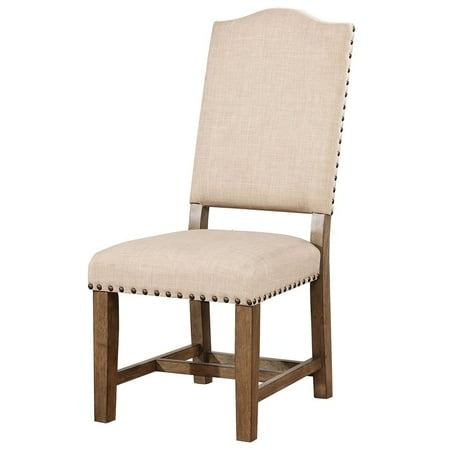 Furniture of America Kora Dining Side Chair in Light Oak (Set of 2) ()
