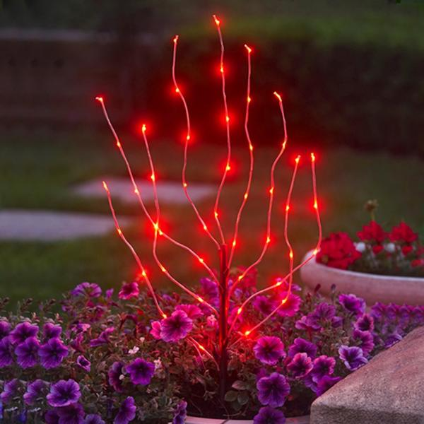 Exhart Anywhere Lighting Battery Operated LED Branch Lights, Red (Discontinued by Manufacturer)