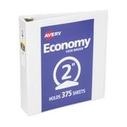 """Avery Economy View Binder, 2"""" Round Ring, White (05780)"""