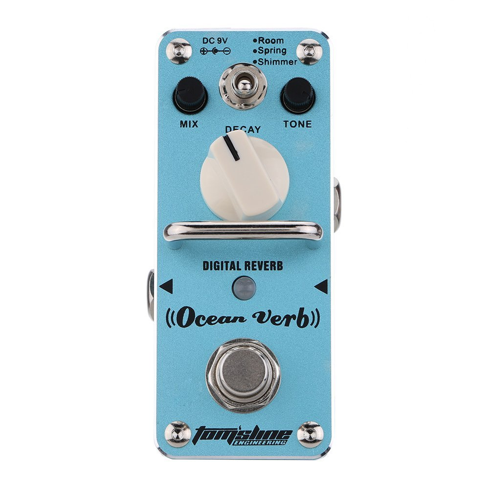 AROMA AOV-3 Ocean Verb Digital Reverb Electric Guitar Effect Pedal Mini Single Effect with True Bypass