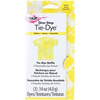 Tulip One-Step Tie-Dye Refill .13oz 3/Pkg-Yellow