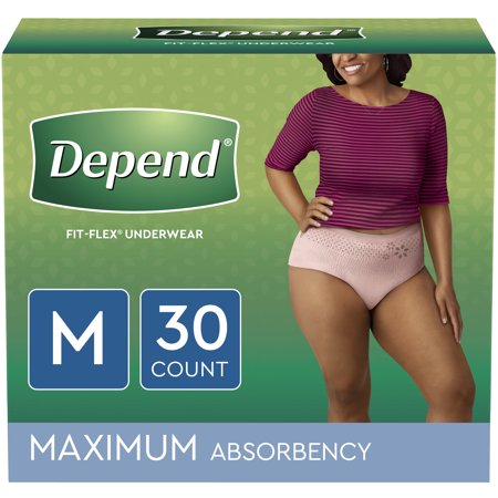 Depend FIT-FLEX Incontinence Underwear for Women, Maximum