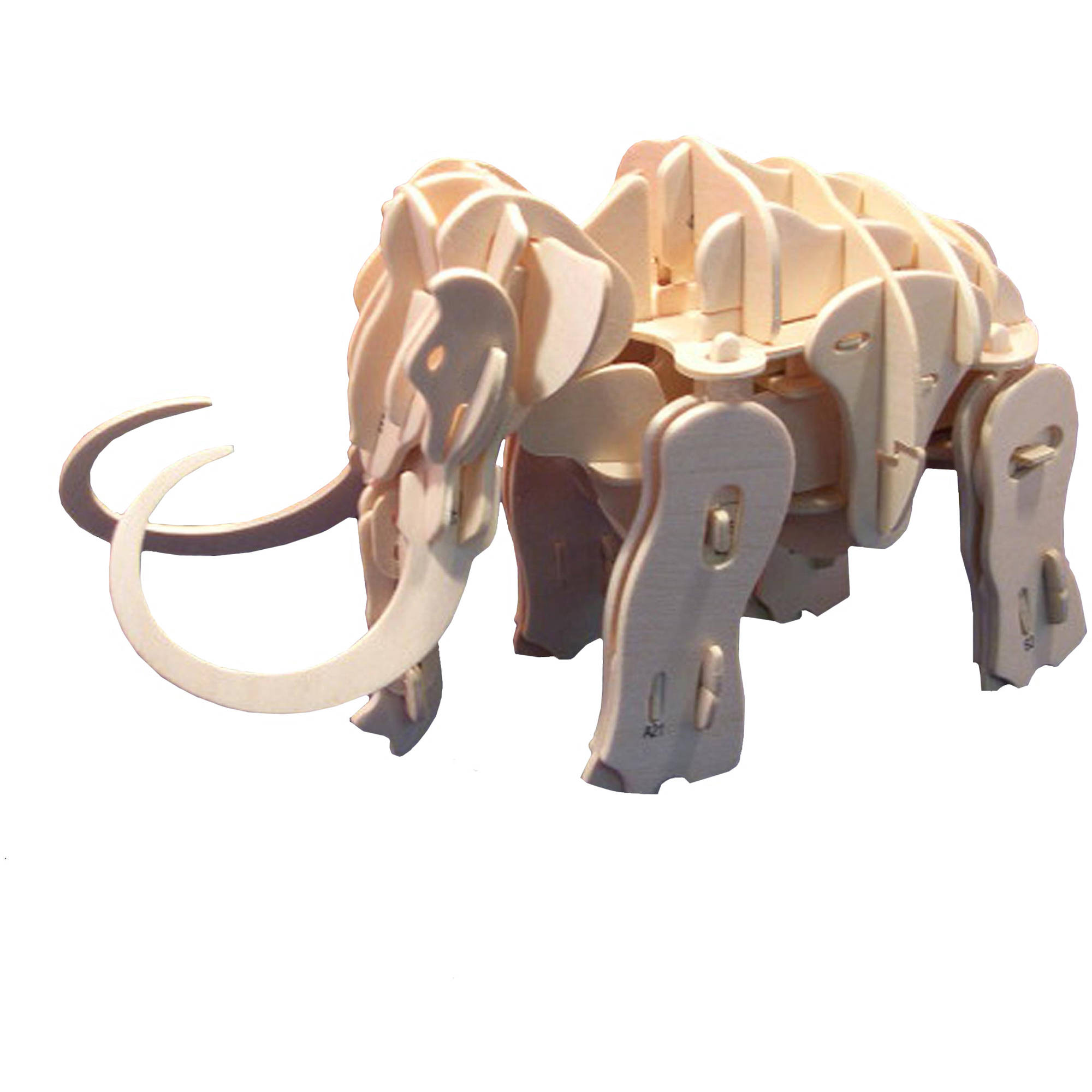 Robotime 3D Robotic Wooden Puzzle with Clap Control, Woolly Mammoth