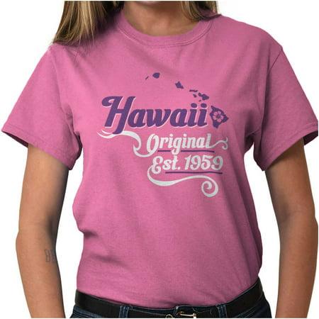 Brisco Brands Hawaii Girl Fashion Souvenir Lady Short Sleeve T Shirt - Hawaiian Souvenir Ideas