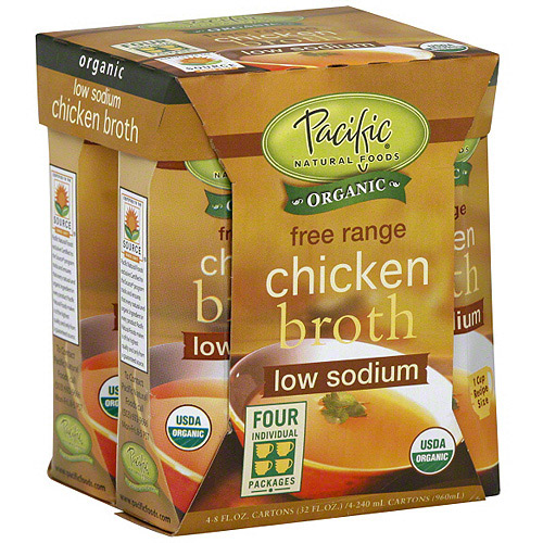 Pacific Natural Foods Chicken Broth, 4ct (Pack of 6)