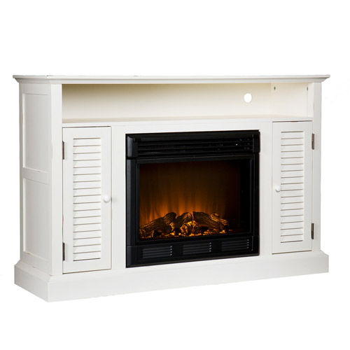 Wiltshire  Fireplace Media Console, Antique White - Box 1 of 2