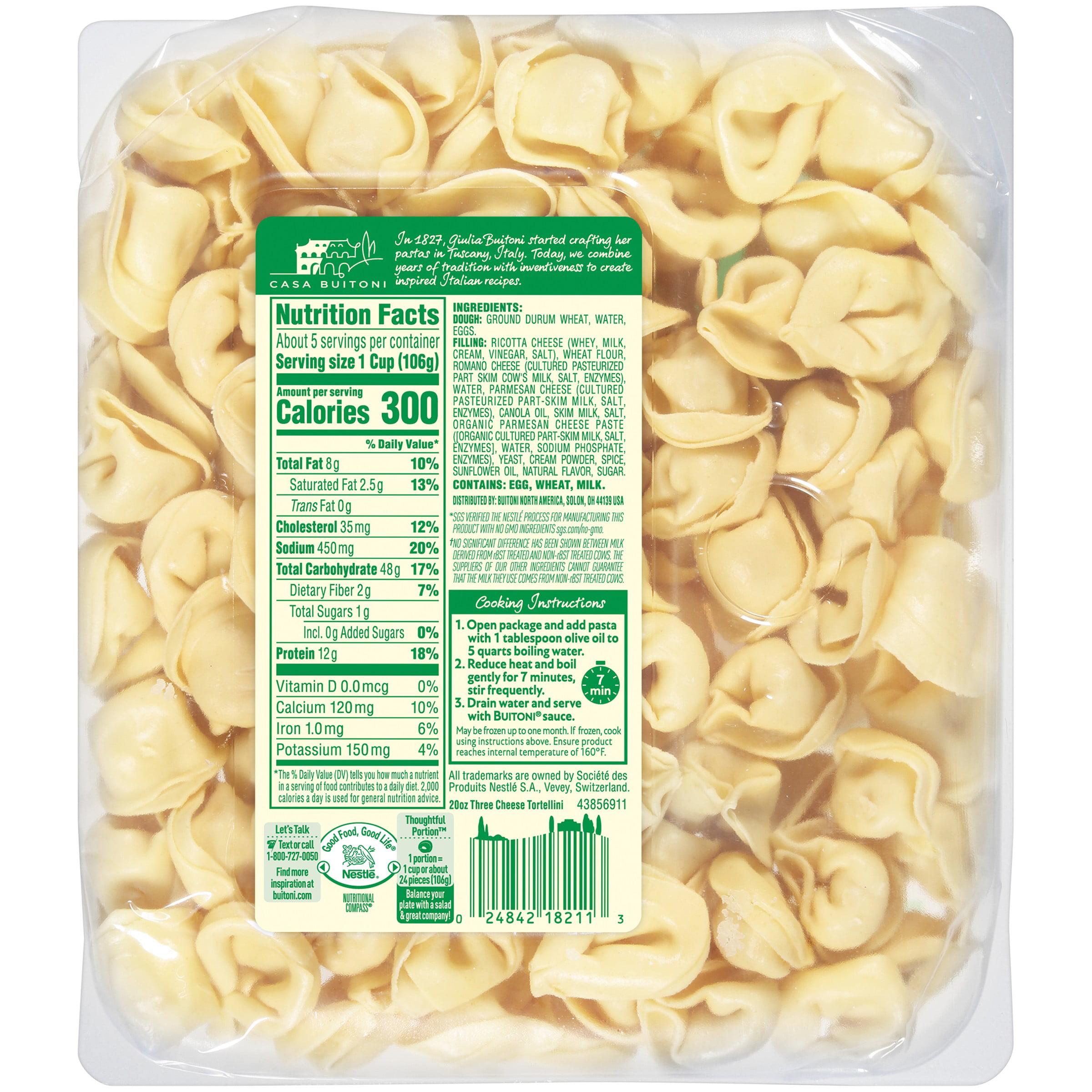 Buitoni Three Cheese Tortellini Refrigerated Pasta 20 Oz Family