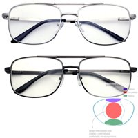 286fc95cae Product Image Multifocal Metal Frame Aviator No Line Progressive Reading Glasses  Clear Lens