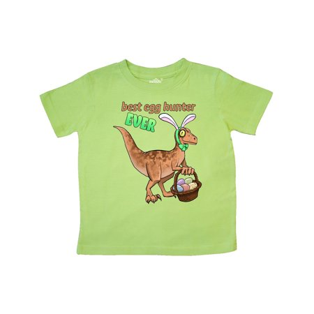 923065082 Inktastic - Best Egg Hunter Ever Easter dinosaur Toddler T-Shirt -  Walmart.com