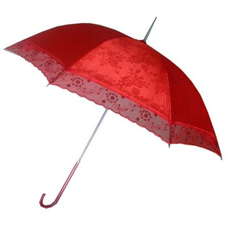 Conch Umbrellas 5012 44 in. Red Lace Umbrella, For Chinese Wedding, Wedding Events ()