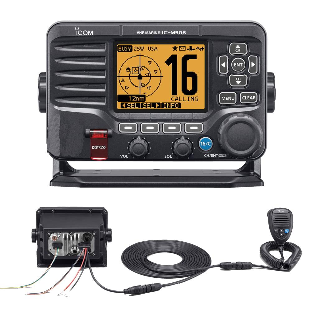 Icom M506 VHF BLACK N2K REAR MIC VERSION