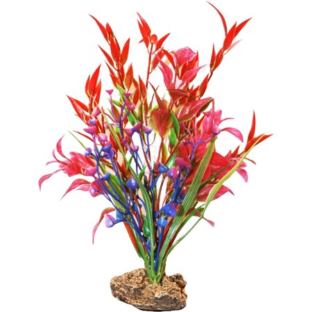 (2 Pack) SPORN Aquatics 7-Inch Red/Pink/Blue Standing Plant