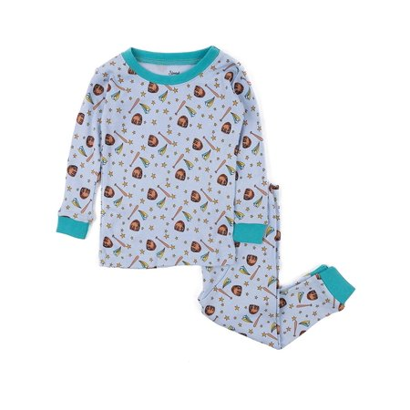 Leveret Kids Pajamas Baseball Overall Print Boys & Girls 2 Piece pjs Set 100% Cotton Size 4 Toddler