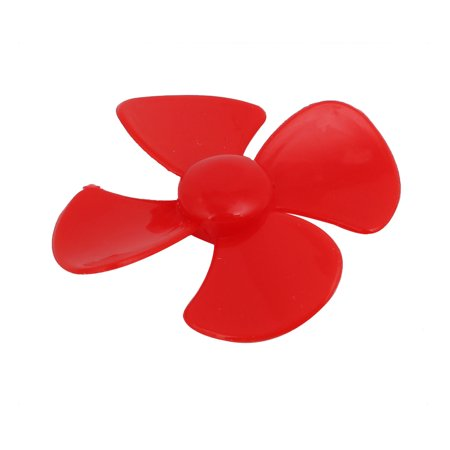 Brushless Motor 4 Vanes RC Boat Airplane Propeller 2.4-inch Dia Red 4PCS - image 1 of 4