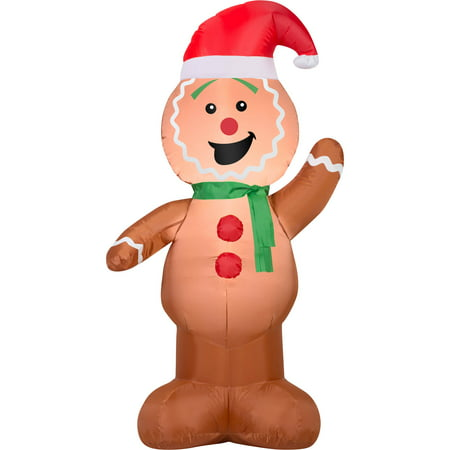 gemmy airblown christmas inflatables gingerbread 4 - Inflatable Gingerbread Man Christmas Decor