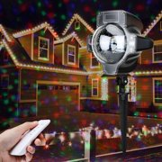 Lampwin Projector Light RGB Maple Waterproof Landscape Projection Decoration for for Halloween, Christmas, New Year, with Remote Controller