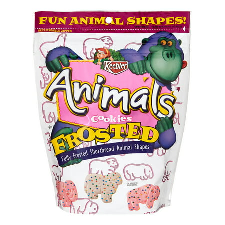 Keebler Frosted Animal Shortbread Shape Cookies, 13 (Animals Organic Cookies)
