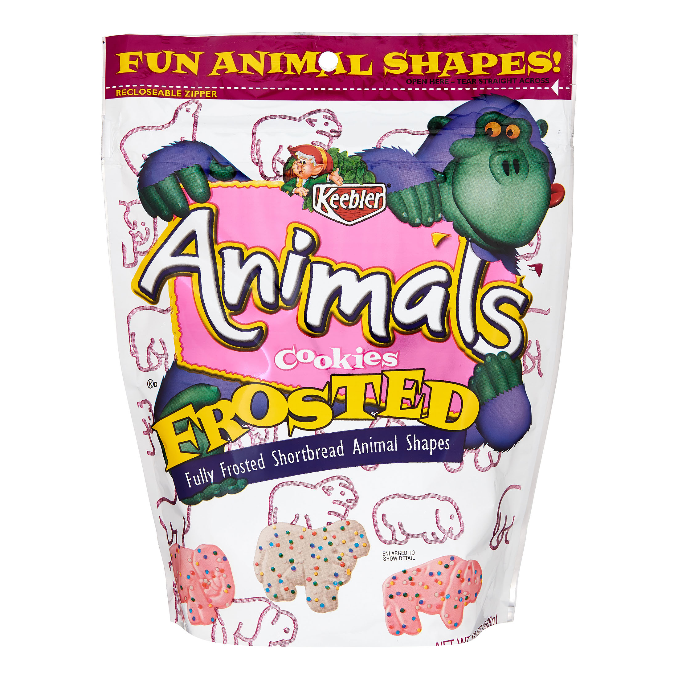 Keebler Frosted Animal Shortbread Shape Cookies, 13 oz