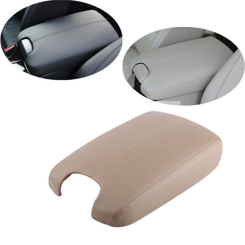 Artificial Leather Car Armrest Center Console Lid Cover Skin For Honda Accord 2008-2012