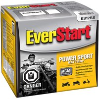 EverStart AGM PowerSport Battery, Group Size ES-12BS