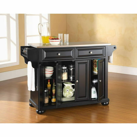 Crosley Furniture Alexandria Stainless Steel Top Kitchen Island