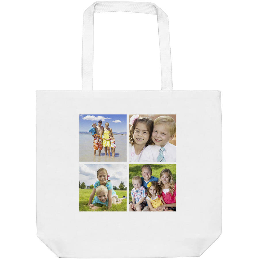 Personalized Photo Collage Tote, 4, Available with 4 photos or 9 photos