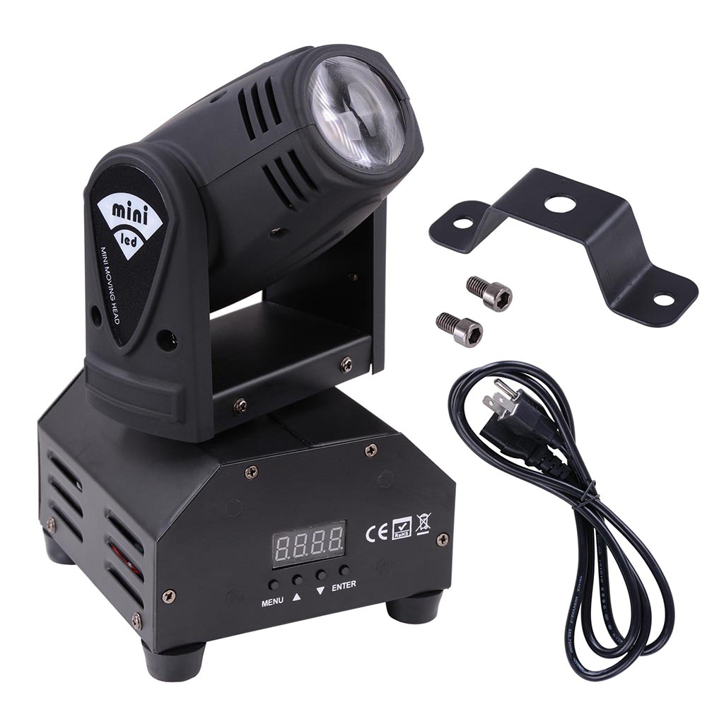Beam Moving Head Light 12W Cree Led Lighting RGBW 4in1 Music KTV Bar Outdoor Disco Party by Yescom