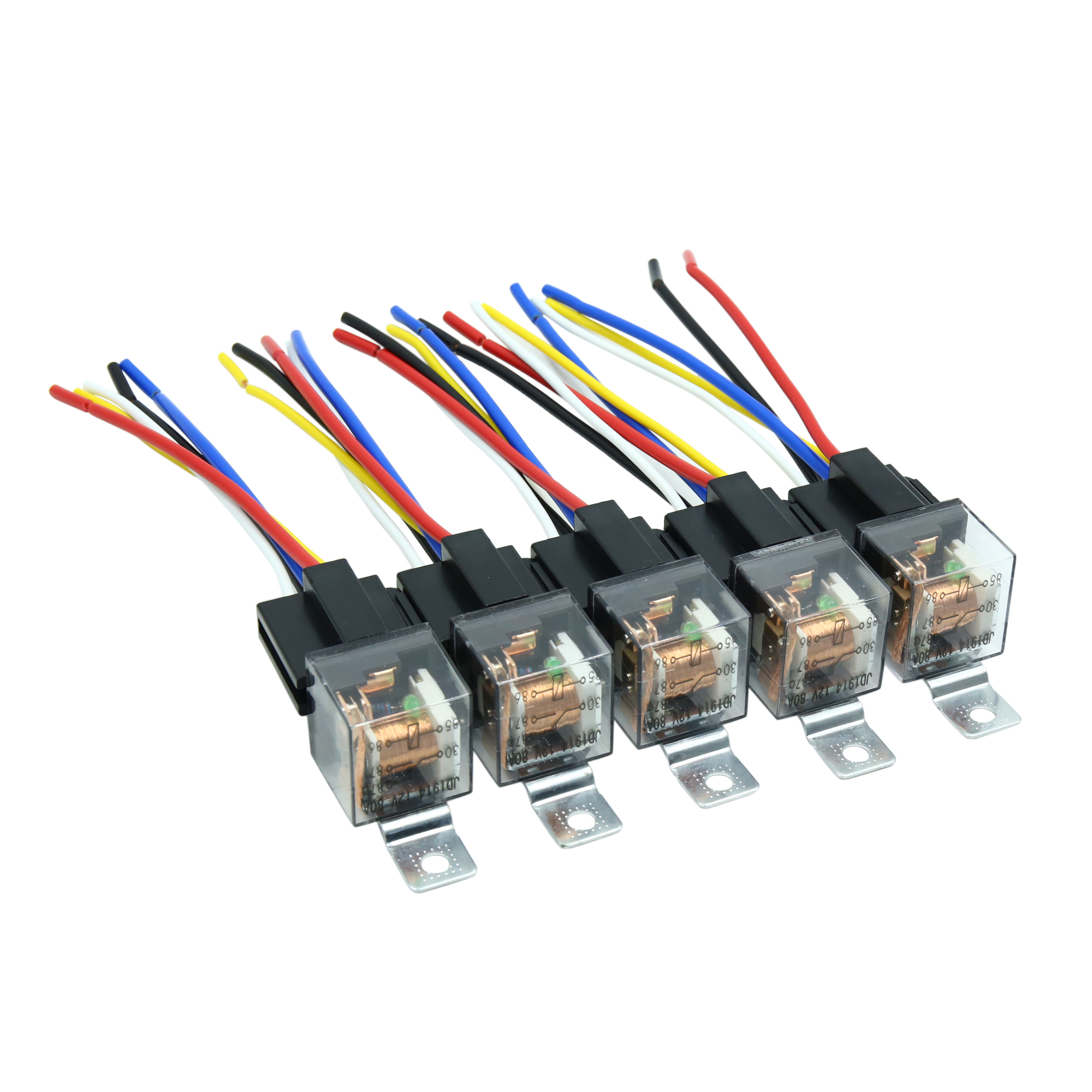 Waterproof Dc 12v 80a Spdt Automotive Car Relay 5 Pin 5