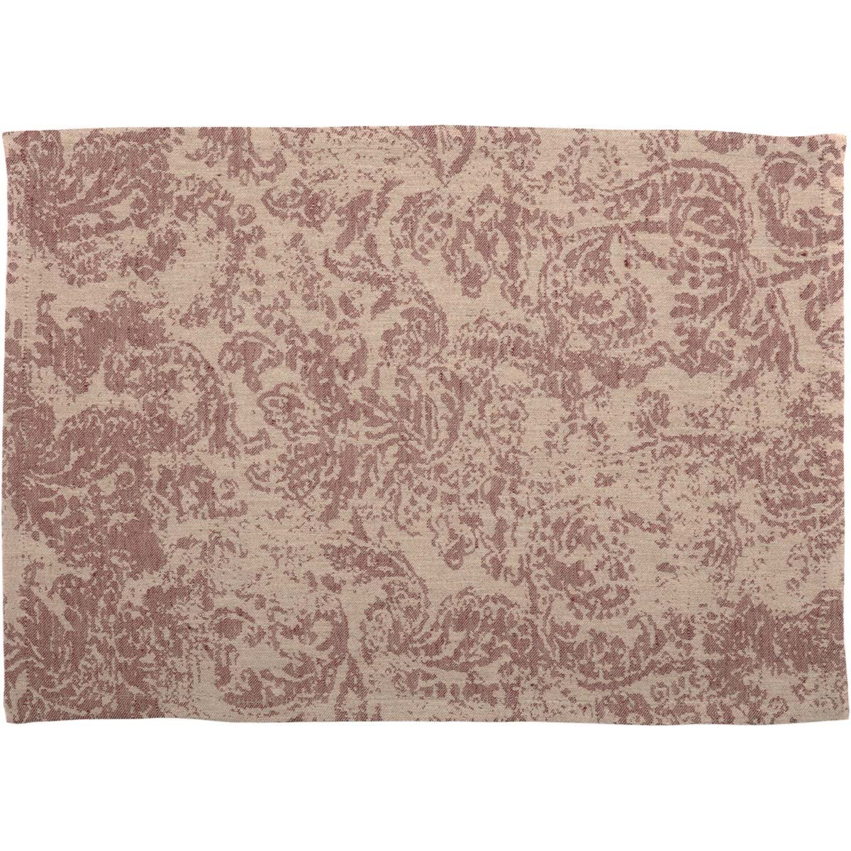 Rebecca Crimson Placemat Set of 6 12x18