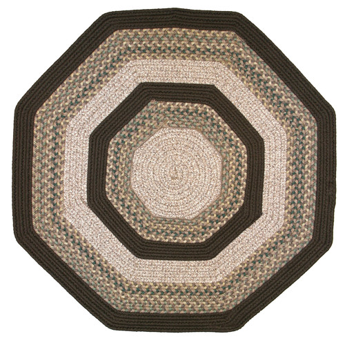 Thorndike Mills Beantown Baked Beans Octagon Tan/Brown Area Rug