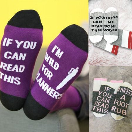 - Custom wine socks If You can read this Bring Me a Glass of Wine Purple,white