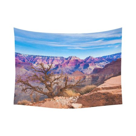 PHFZK Scenery Wall Art Home Decor, Beautiful Landscape of Grand Canyon National Park in Arizona, USA Tapestry Wall Hanging 80 X 60