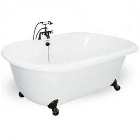 Champagne Celine 70 in White Acrastone Air Bath Tub Small